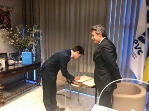 Secretário de Estado da Defesa do Consumidor assina Livro de Honra da AEVC